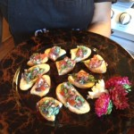 Tomato & Olive Bruscetta on Garlic Crostini