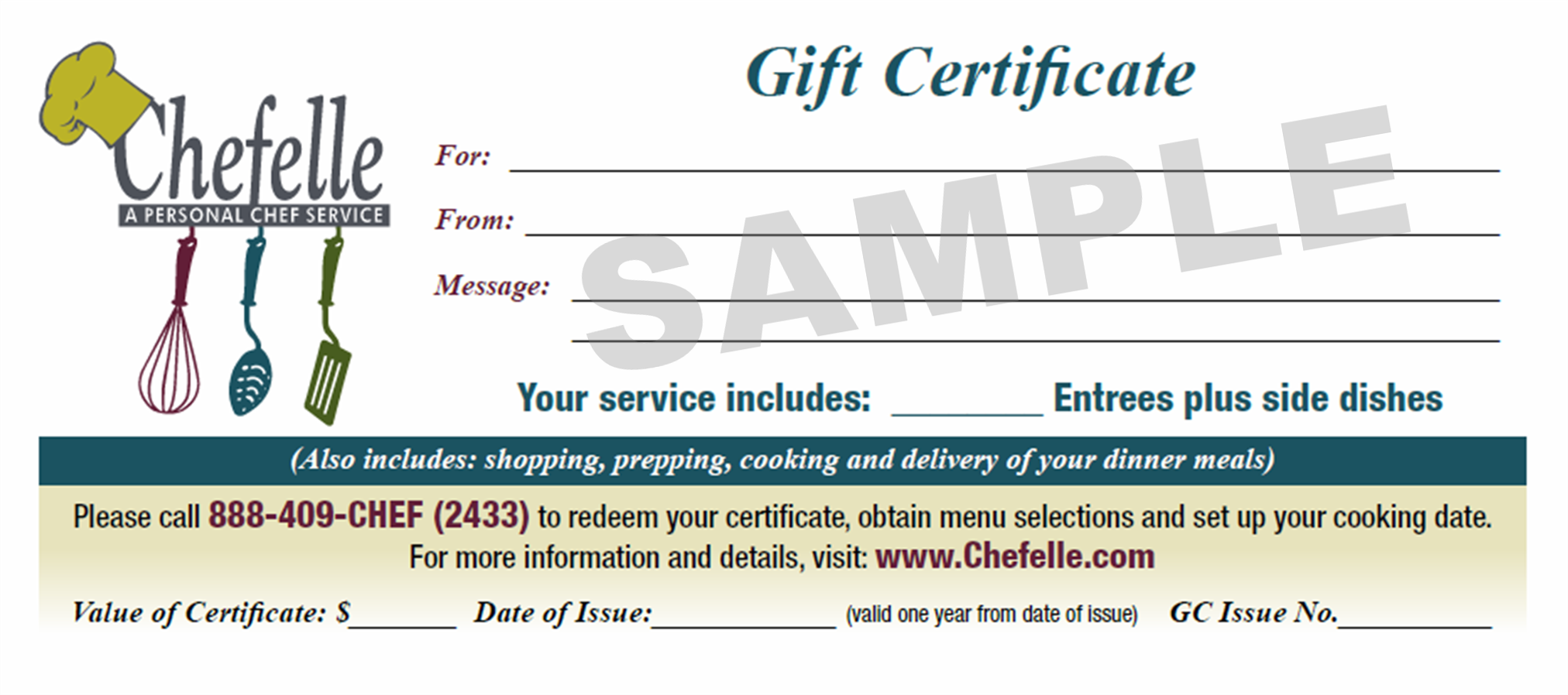 Gift Certificates Chefelle 2