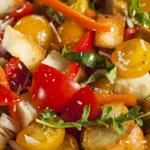 Traditional Healthy Panzanella Salad