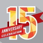 15th Years Anniversary Celebration Design